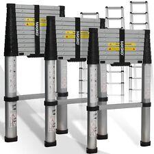 Masko® Teleskopleiter Soft Close Leiter Aluleiter Anlegeleiter Mehrzweckleiter