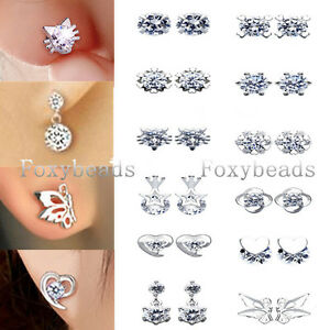 Elegant-Lady-Pair-Silvery-Copper-Heart-Cat-Star-Flower-Crystal-Bead-Earring-Gift