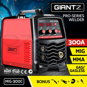 Giantz 300 Amp Inverter Welder MIG MAG MMA Gas Gasless Portable Welding Machine