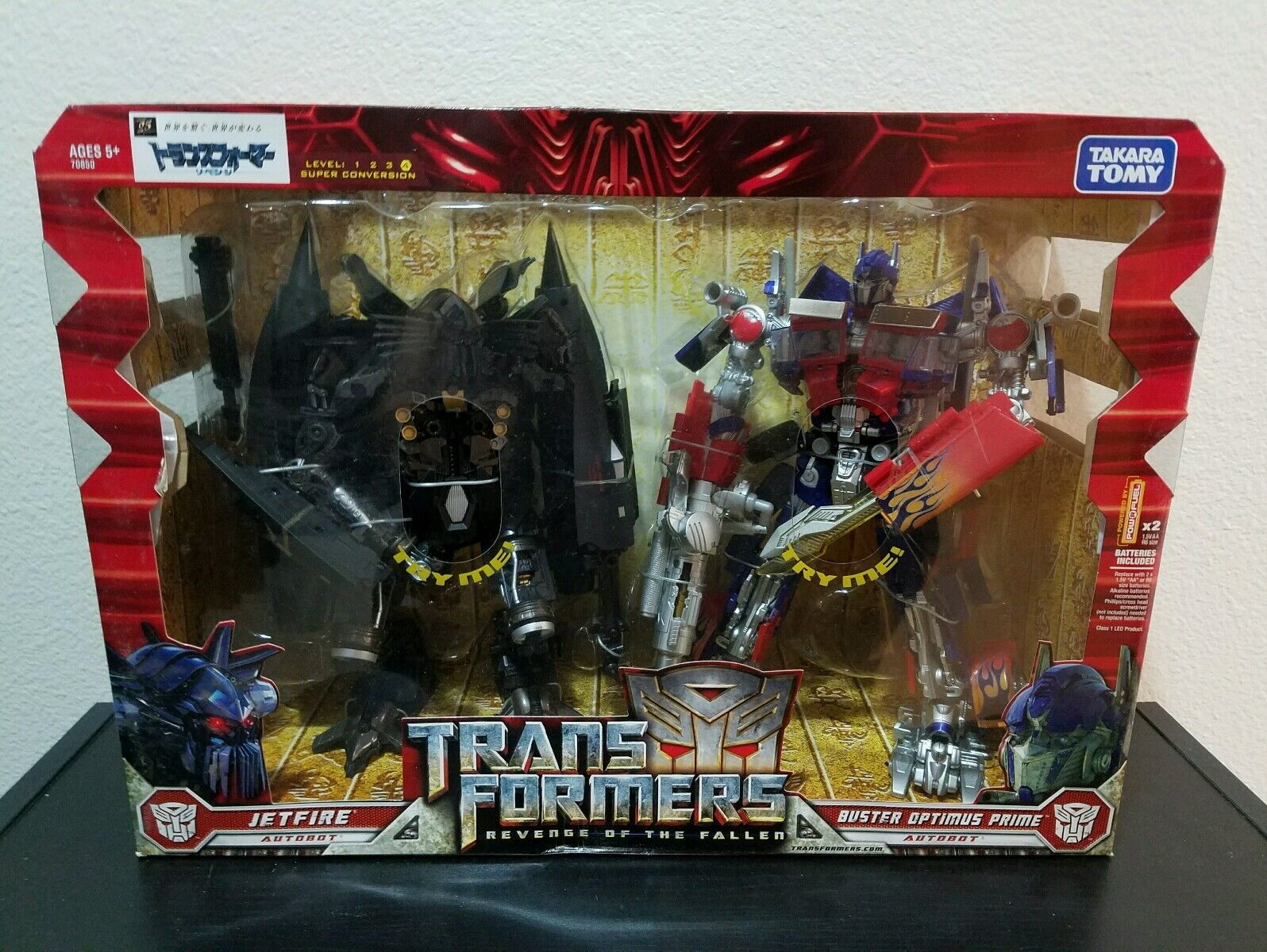 Dark of the Moon Movie Leader Class Jetpower Optimus Prime & Jetfire Takara Tomy
