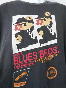 SUPER-BLUES-BROTHERS-ENTERTAINMENT-TEE-SHIRT-blk-gamer-mario-nintendo-nes-XL