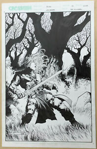 Original Comic Cover Artwork to Scion by Jim Cheung and Don Hillsman II