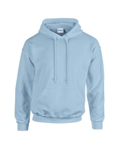 Bleu clair Gildan Uni à Capuche Lourd Blend Sweat-shirt Pull-over Sweat à capuche