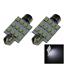 2x White AUTO 39MM Festoon Lamp Number plate Light 12 1210 SMD LED 3425 I206