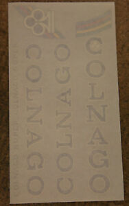 LAST ITEMS WHITE NOS COLNAGO FRAME DECAL STICKER