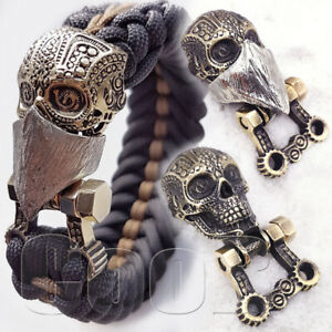 SIlver Paracord Buckle Shackle INDIAN CHIEF SKULL for Paracord Bracelet Lanyard