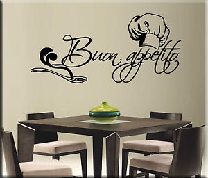 adesivi murali buon appetito decorazioni da parete cucina