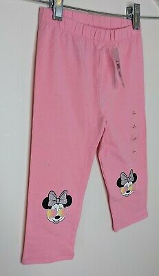 NWT BABY GAP GIRLS PANTS capri leggings Minnie Mouse Disney  pink  u pick size
