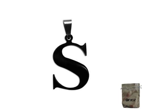 Original Enez Halsketten Edelstahl Anhänger Buchstabe S 3,0cm R2994 Geschenkbe