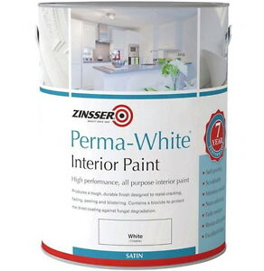 Zinsser Perma-White Interior Satin Mould Resistant Paint For High Humidity 1L