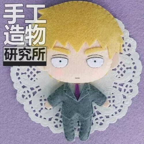 Anime Mob Psycho 100 Arataka Reigen DIY Material Hanging Keychain Plush Doll