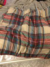 Oversized Plaid Scarf Blanket Zara Wool Like Wrap