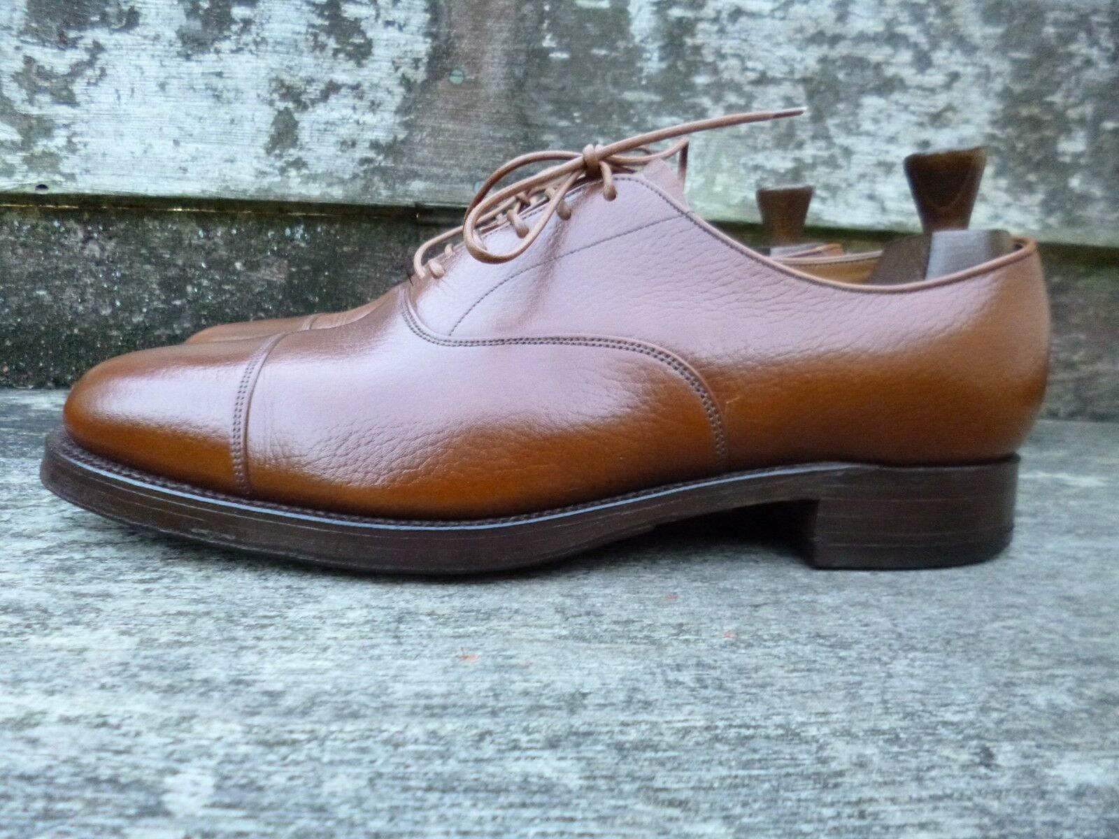 CHEANEY   CHURCH VINTAGE OXFORD – – – braun   TAN – UK 10 – EXCELLENT CONDITION 8e0758