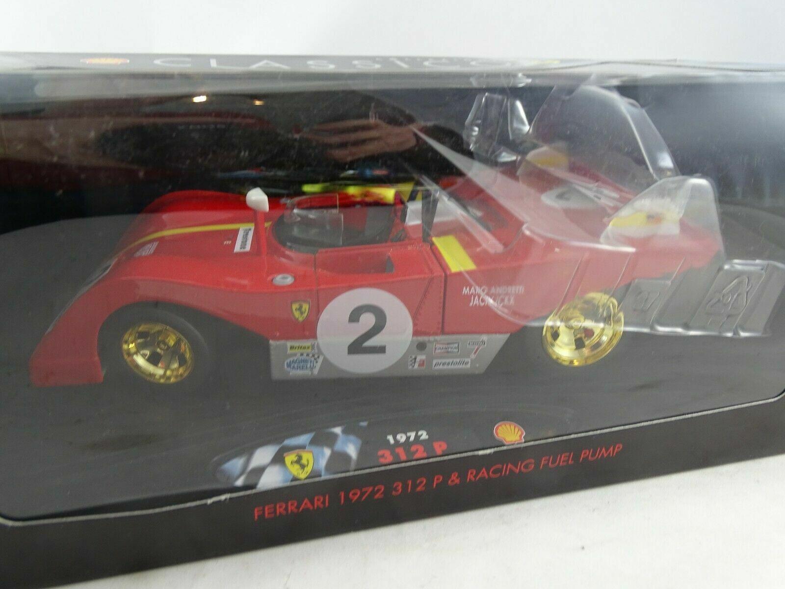 1 18 Shell Classico 1972 Ferrari 312 Pcon Bomba de Gasolina   Nuevo Ovp