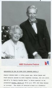 Details about HELEN HAYES FRED ASTAIRE PORTRAIT A FAMILY UPSIDE DOWN  ORIGINAL '78 NBC TV PHOTO