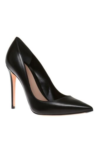 38 noir et talon aiguille cuir à Alexander pointu Mcqueen 5 en Chaussures bout nwP80kO