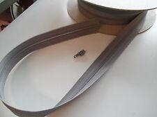 Reißverschluß grau Meterware mit passendem Zipper pro Meter