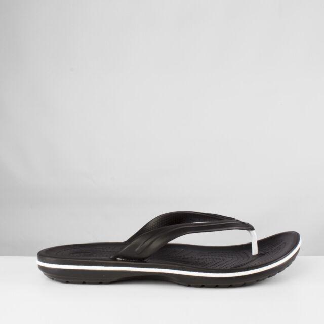 8df8cce9612123 Crocs CROCBAND FLIP Unisex Mens Womens Summer Comfy Toe Post Flip Flops  Black