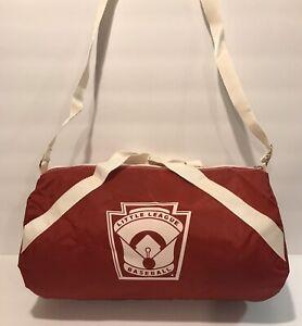 NOS-Rare-Vintage-Little-League-Baseball-Bag-LLWS-Mini-Roll-Duffle-Toppers-Pin