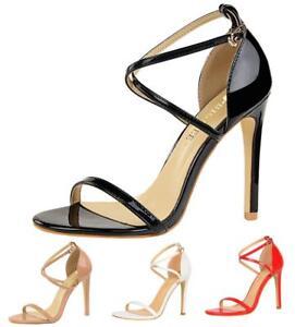 Femmes Gladiateur Sandales Bout Ouvert Talons Hauts Stilettos Soirée Robe Escarpins Chaussures-afficher Le Titre D'origine Dans Beaucoup De Styles