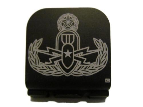 Master EOD Badge Laser Etched Aluminum Hat Clip Brim-it