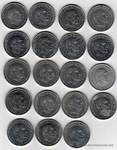 ESPANA-LOTE-50-CENTIMOS-FRANCO-10-MONEDAS-ANO-1966-BC-A-IDENTIFICAR