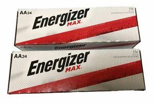 Energizer Max E91-VP AA  Alkaline Batteries 24 pack X 2(48 batteries)Exp.12/2030