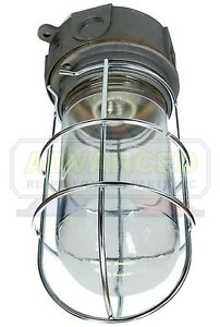 Vapor Proof Walk In Box Light Fixture Globe W Guard Ebay