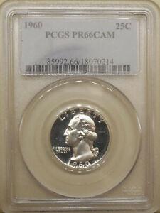 1960-PCGS-PR-66-CAM-Washington-quarter-GEM-proof-silver-BLAST-WHITE-cameo