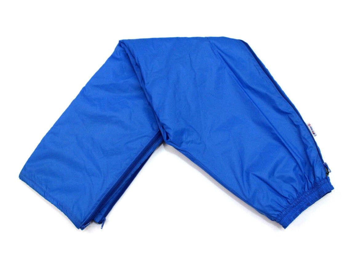 K-WAY Vintage Waterproof Rain Sailing Pants Camping bluee Full Zip Size 8