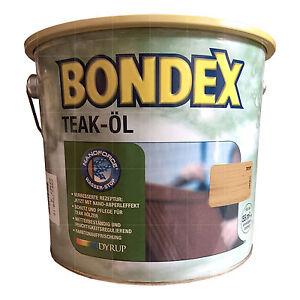 10-L-Bondex-Teak-Ol-2-5L-FARBLOS-Teakoel-Hartholz-Ol-Moebeloel-Teakholz