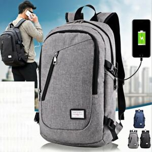 Anti-theft-Mens-Womens-Laptop-Backpack-Travel-School-Bag-USB-Charging-Port-AU