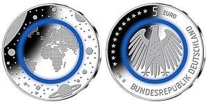 Deutschland 5 Euro Blauer Planet Erde G Karlsruhe Polymer 2016