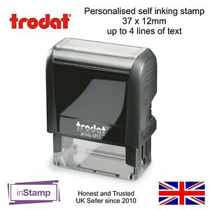 PERSONALISED SELF INKING RUBBER STAMP 4911 YOUR COMPANY LOGO BUSINESS NAME TEL