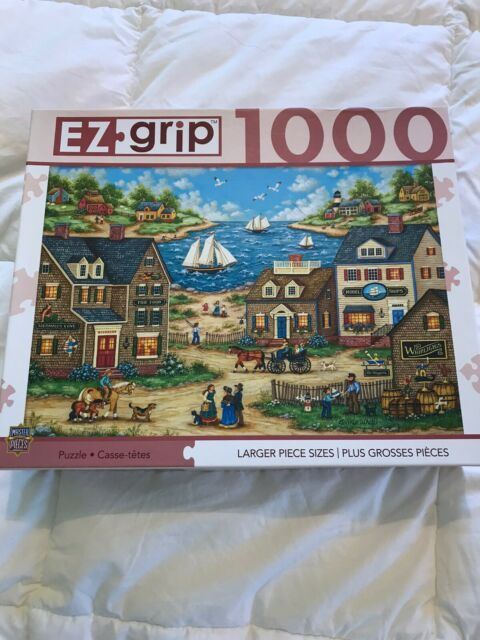 Bonnie White EZ Grip Puzzle 1000 Pc Mr Wiggins Whirligigs NIB Master Pieces New