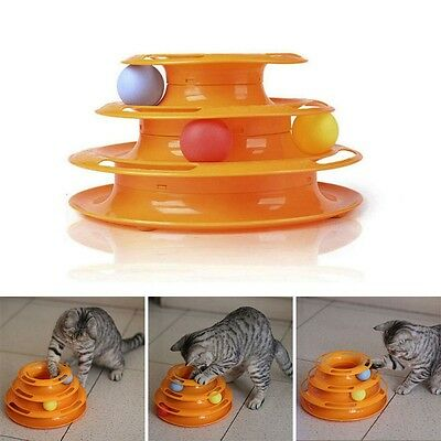 Pet Cat Puppy Kitty Crazy Ball Disk Interactive Amusement Plate Trilaminar Toy