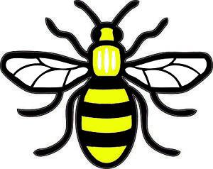 Color-Manchester-Bee-Vinilo-Autoadhesivo-Con-Coche-Furgoneta-Ordenador-Portatil-orgulloso-de-ser