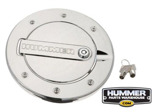 DefenderWorx Fuel Door H3PPC08060 Chrome Lockable Hummer H3