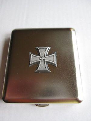 Reichsadler Lorbeer Banner EK Zigaretten Etui Wehrmacht WW2 WK2 Eagle Iron Cross