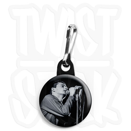 Ian Curtis Photo Joy Division 25mm Keyring Button Badge with Zip Pull Option