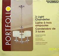 Portfolio 3-light contemporary Style Polished Chrome Chandelier -