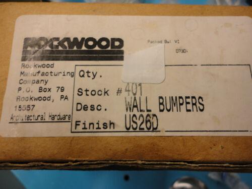 Free Ship,Rockwood 401 Door Stop with DuraFlex Bumper US26D Satin Chrome