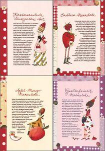 SILKE LEFFLER*Postkarte*Rezeptkarte*Marmelade+Kirsch*Apfel-Mango ...