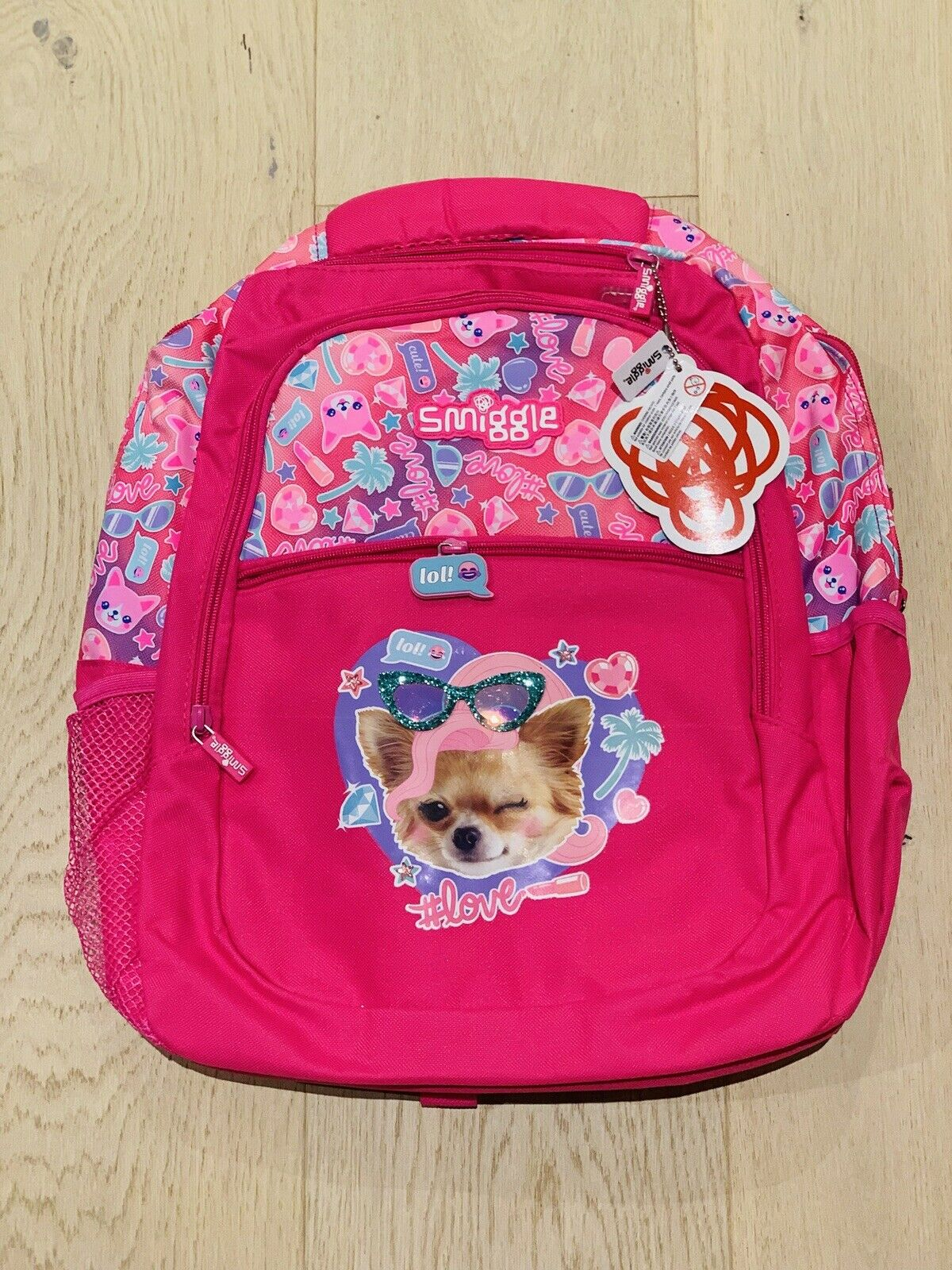 Clearance Sale! Smiggle Stylin' Backpack Pink Dog