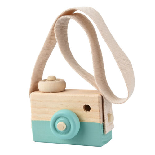 Mini Wooden Toy Camera Baby Kids Room Wall Hanging Decor Photography Props