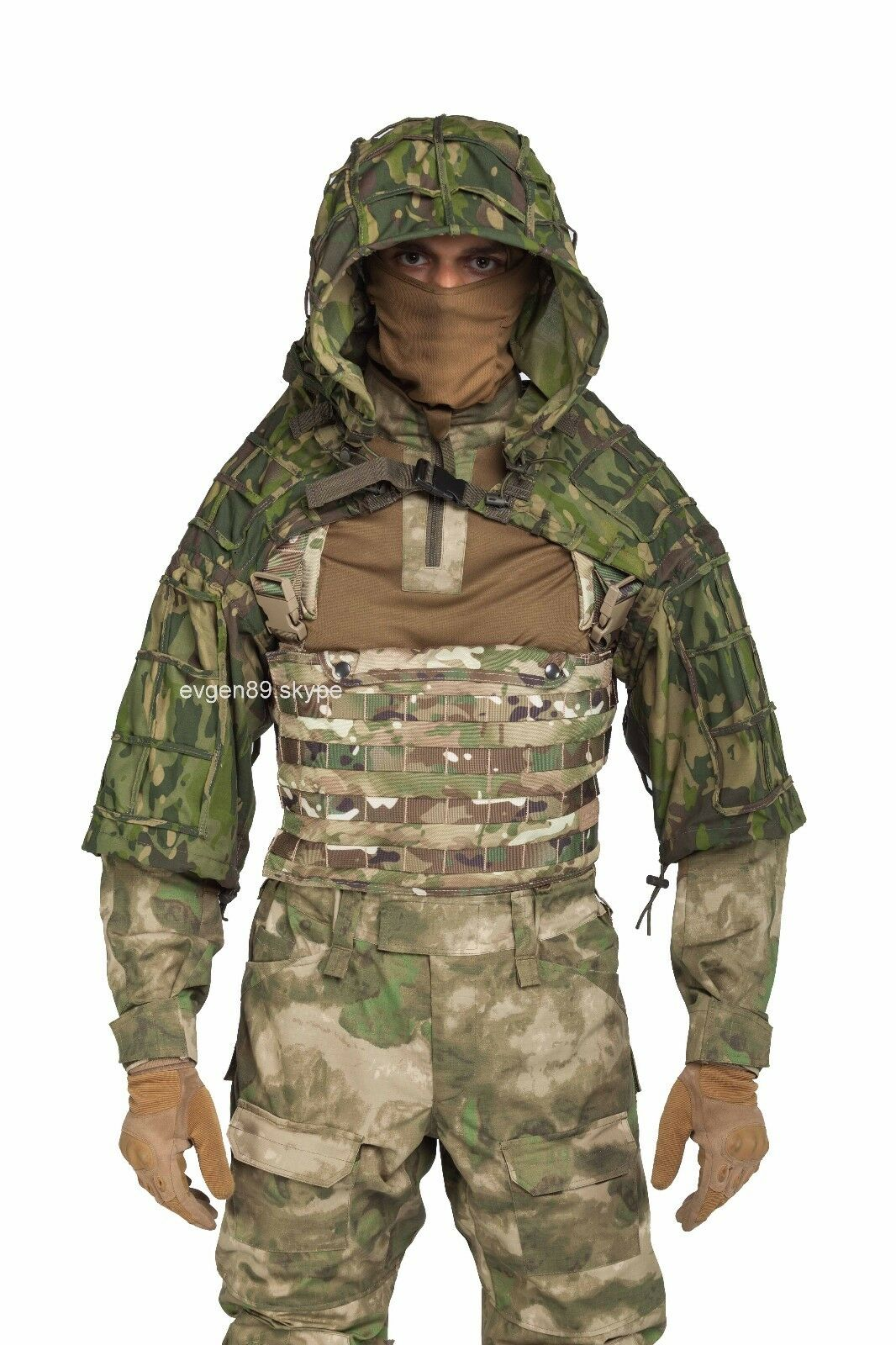 Disguise Sniper  Coat   Viper Hood Russian Spetsnaz Multicam Tropic  100% genuine counter guarantee