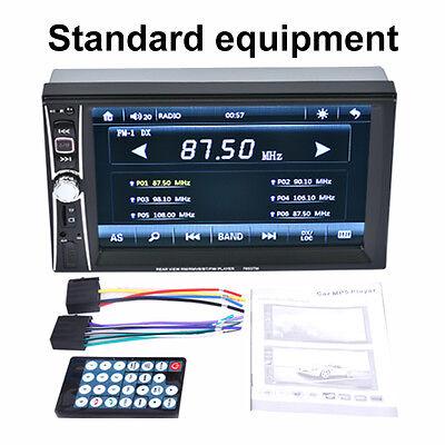 "Car DVD MP5 GPS Navigation Stereo Player Camera 2 DIN Bluetooth Radio 6.6"" Echo"