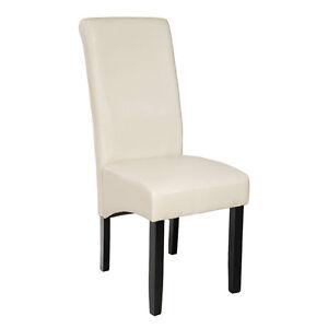 luxus esszimmerstuhl esszimmerst hle sitzgruppe gastro st hle creme 105cm ebay. Black Bedroom Furniture Sets. Home Design Ideas