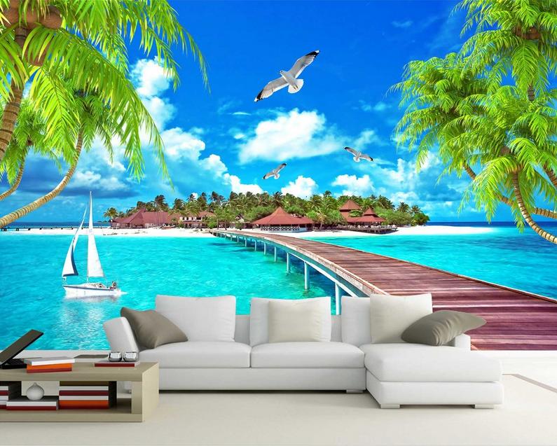 3D Blauen Himmel Landschaft 9 Tapete Wandgemälde Tapete Tapeten Bild Familie DE  | Verschiedene Waren  | Spielen Sie das Beste  | Sonderkauf