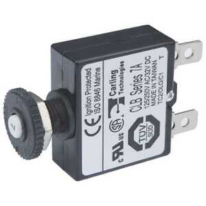 Blue Sea 7053 Push Button Reset Only Quick Connect Circuit Breaker 7 Amps Marine